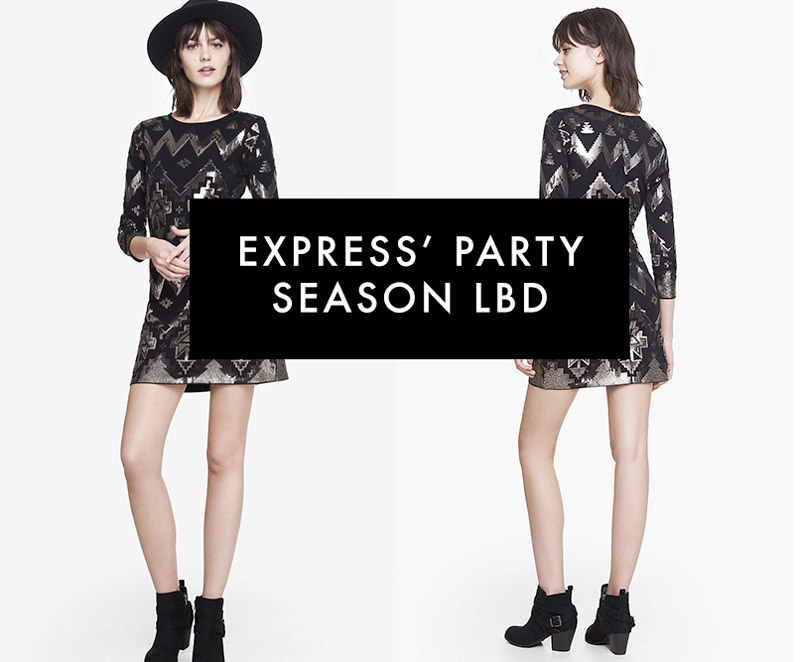 Express Has The Perfect Little Black Dress For Party Season