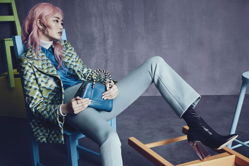 Fernanda Ly poses in Vogue Australia's November issue