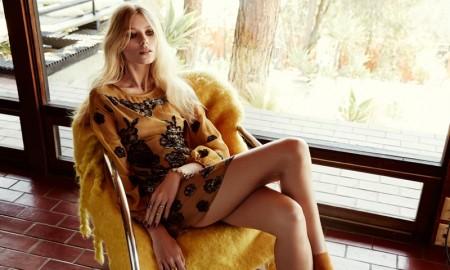 Vika models For Love & Lemons Sierra dress