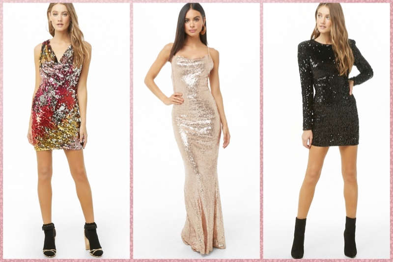 Turn Up the Shine Factor in One of These Sequin Dresses
