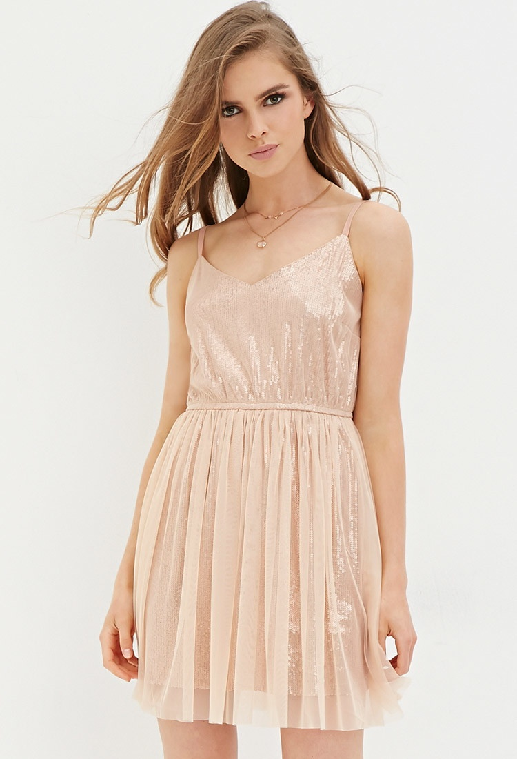 Forever 21 Sequin Cami Dress And Tulle