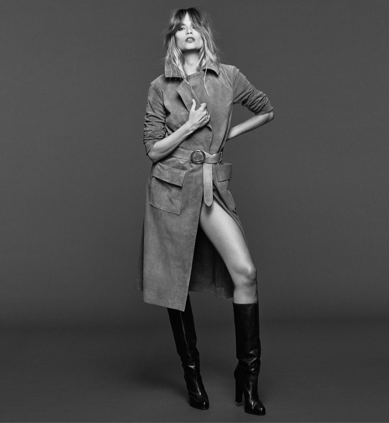 Natasha Poly stars in FRAME Denim's fall-winter 2015 campaign