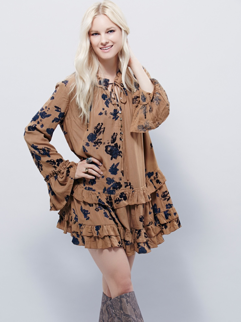 Free People Clover Field Printed Tunic