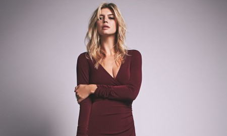 Free People Long Sleeve Maxi Dress in Burgundy