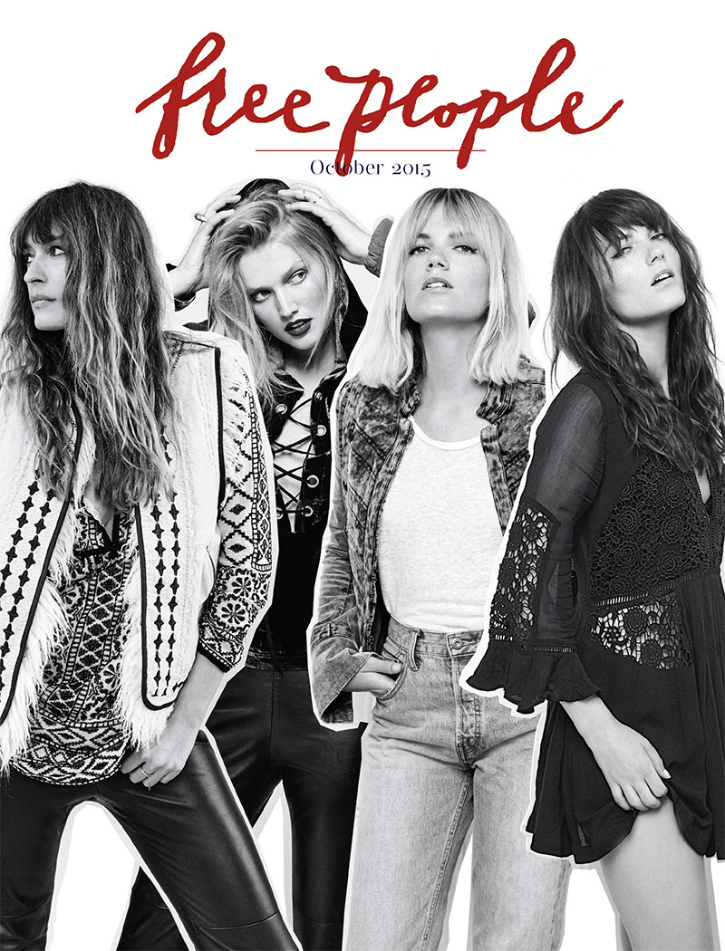 Cover of Free People's October 2015 catalogue