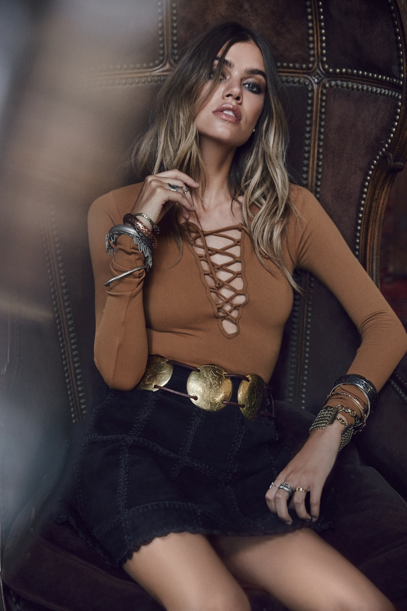 Joanna Halpin Wears Folk-Rock Style for Free People