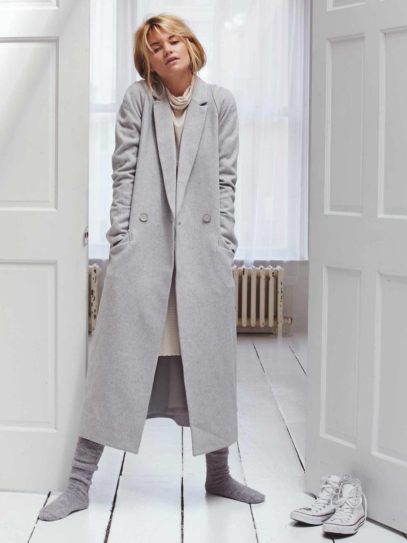 Free People Wool Maxi Coat