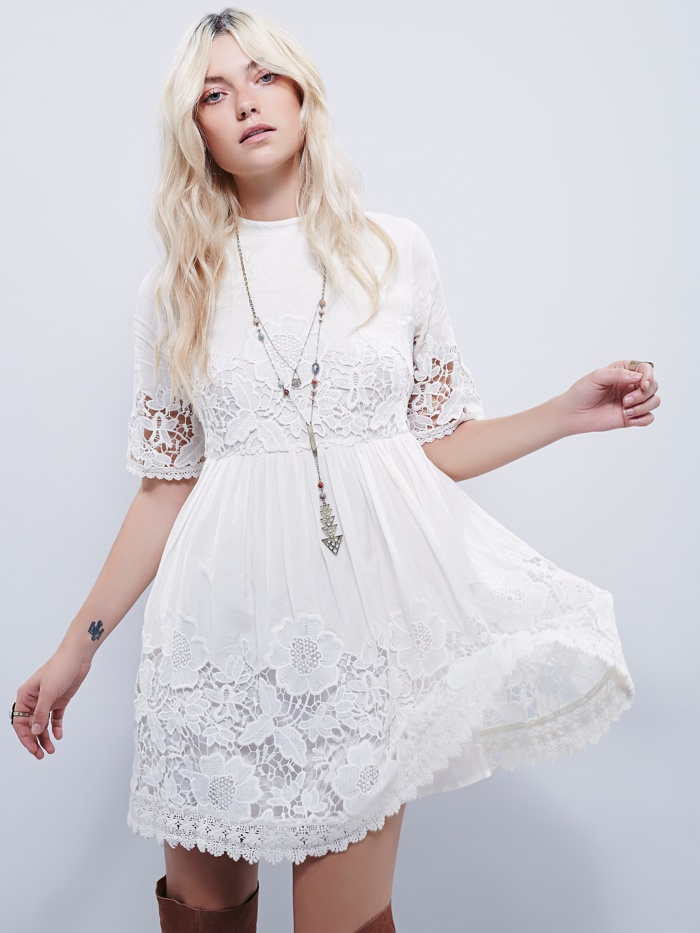 Free People Victorian Mini Dress In White