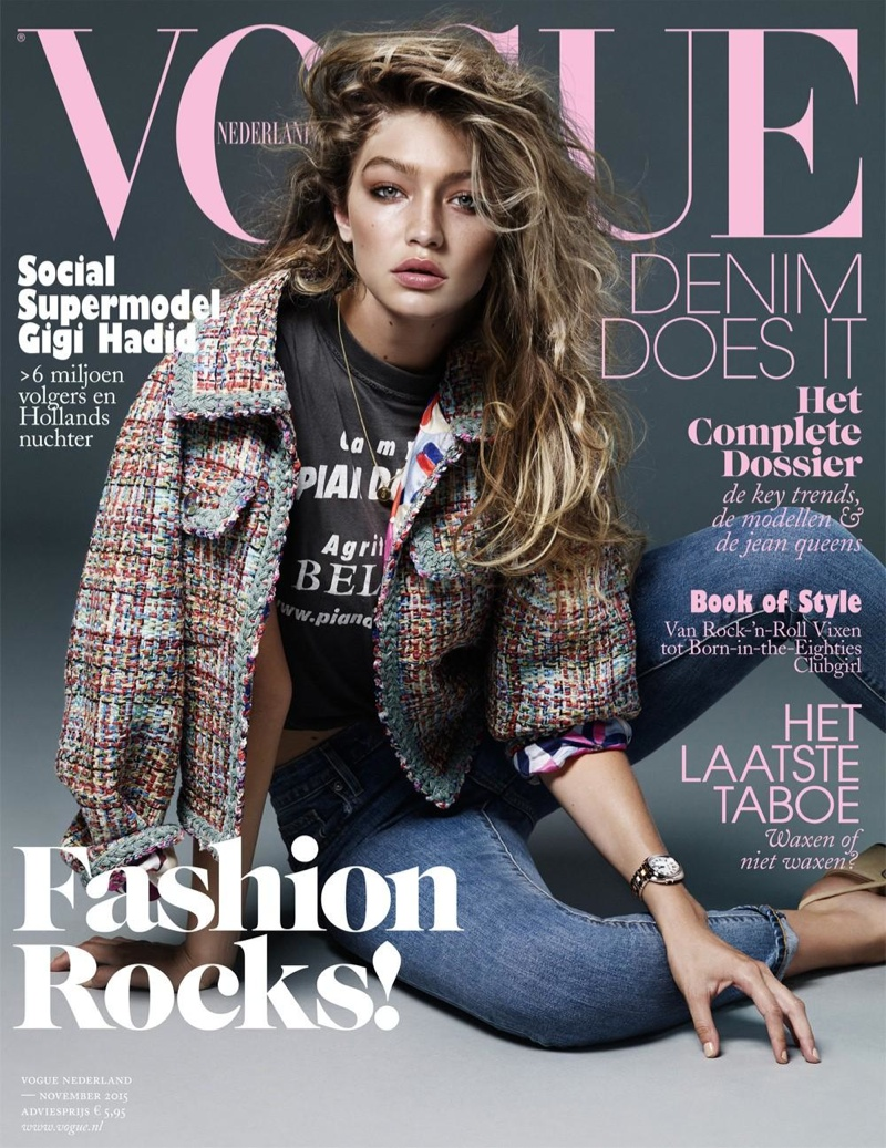 Gigi Hadid`s - Vogue Netherlands November 2015 Covers