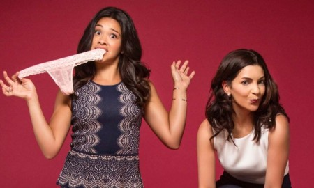 'Jane the Virgin' star Gina Rodriguez poses in new images for start-up lingerie brand Naja. Gina poses alongside founder Catalina Girald in the new images.