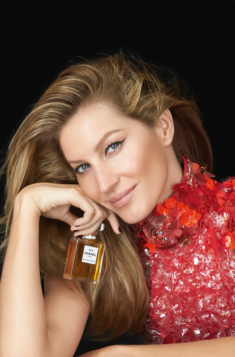 Gisele Bundchen is Red Hot for New Chanel No. 5 Ads