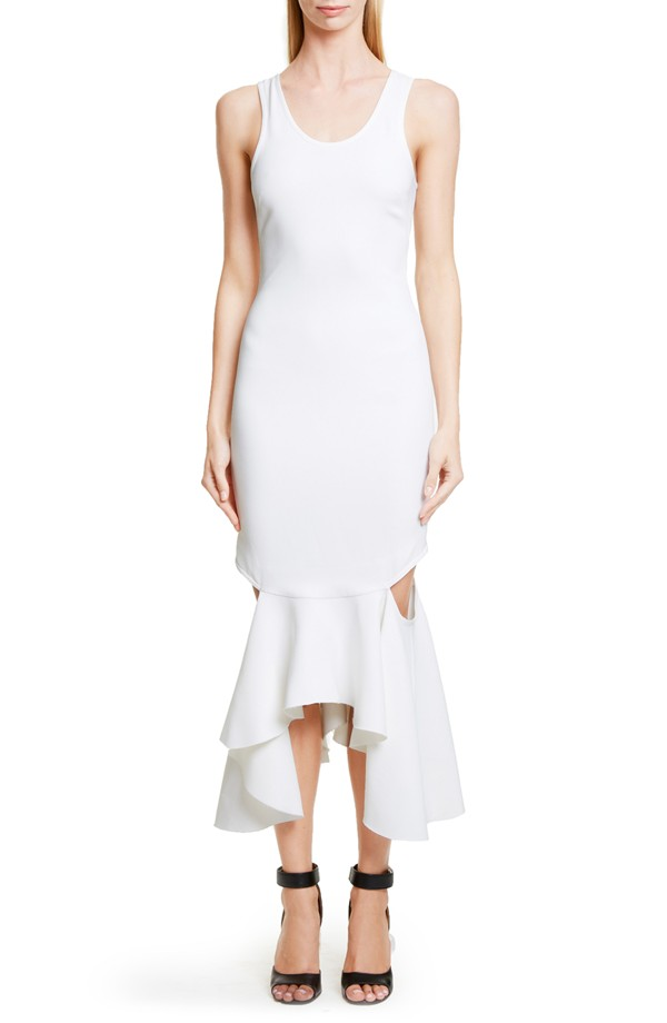 Givenchy Cut-Out Stretch Cady Tank Dress