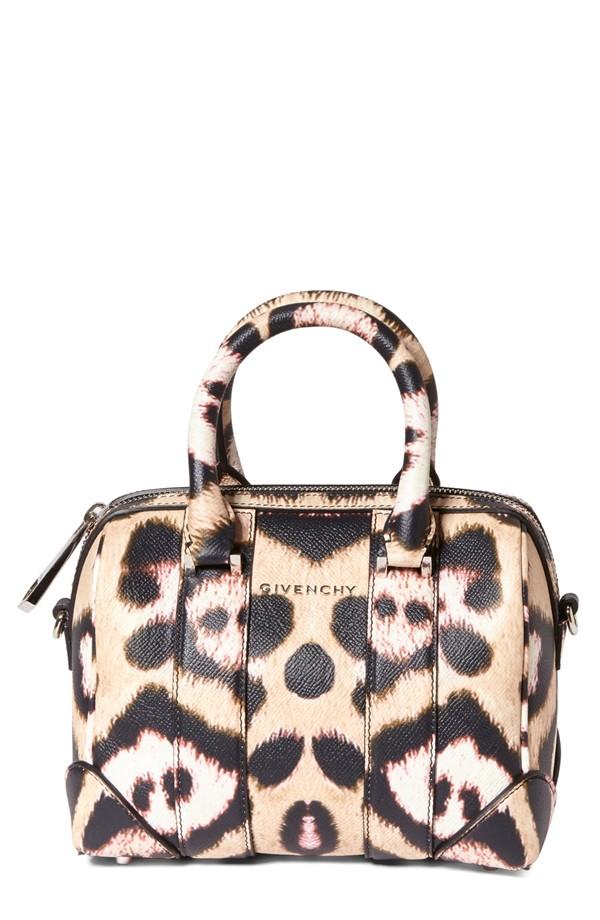 Givenchy Jaguar Print Leather Satchel