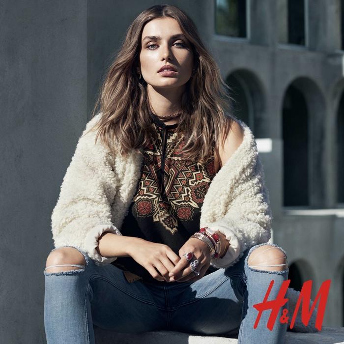 Andreea Diaconu stars in H&M trend update