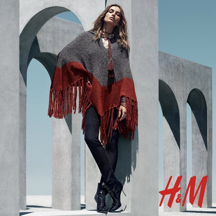 Andreea models winter fashions featuring the boho trend
