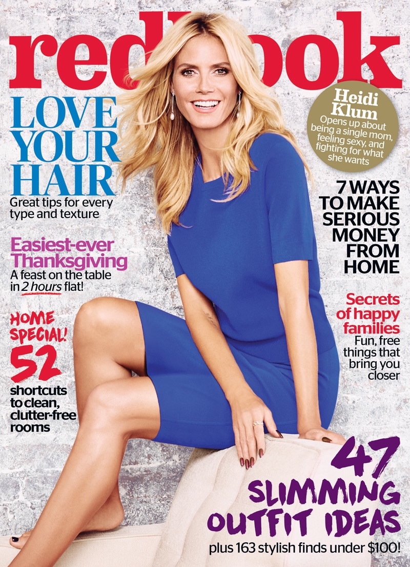 Heidi Klum on Redbook Magazine November 2015 cover