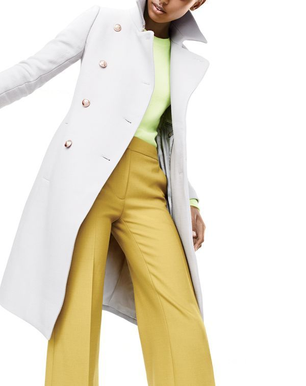 J. Crew Double Cloth Long Peacoat