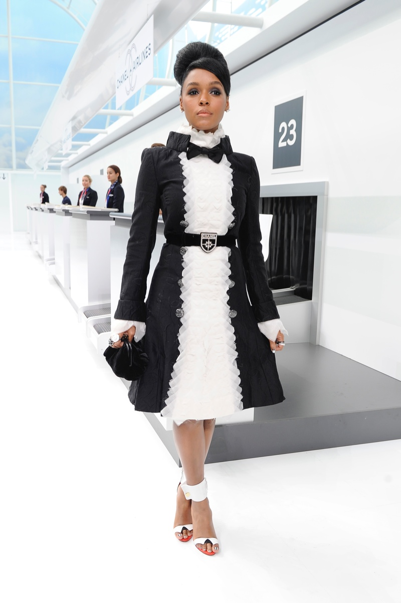 Celebs at Chanel's Spring 2016 Show: Cara Delevingne, Janelle Monae, Say Lou Lou + More