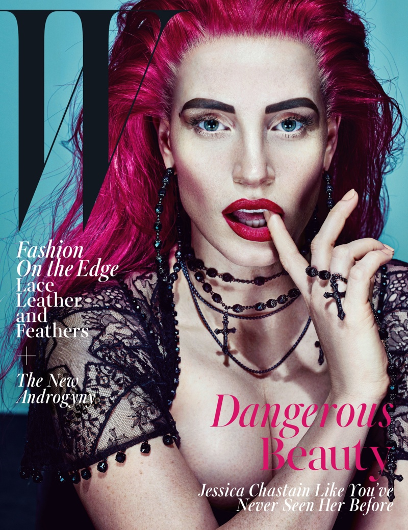 Jessica Chastain Goes Punk For W Cover Story