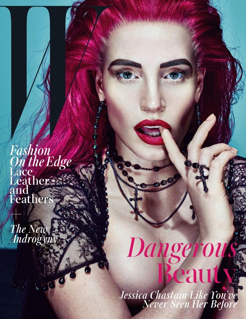 Jessica Chastain on W Magazine November 2015 cover