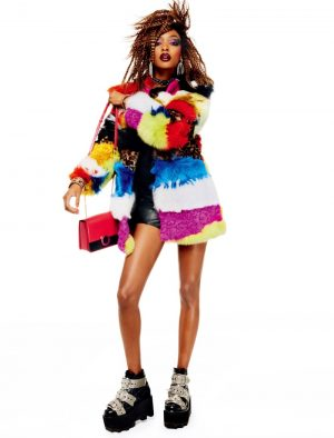 Jourdan Dunn Rocks Crimped Hair for Vogue Japan Editorial