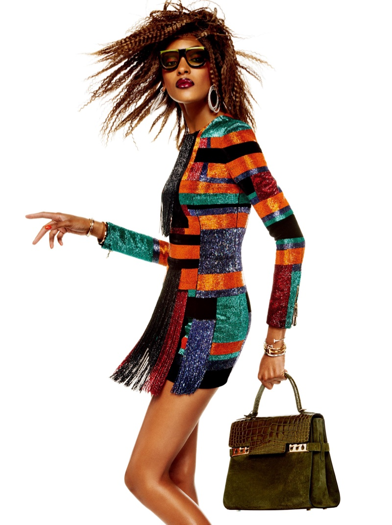 Jourdan sports fringe dress by Balmain