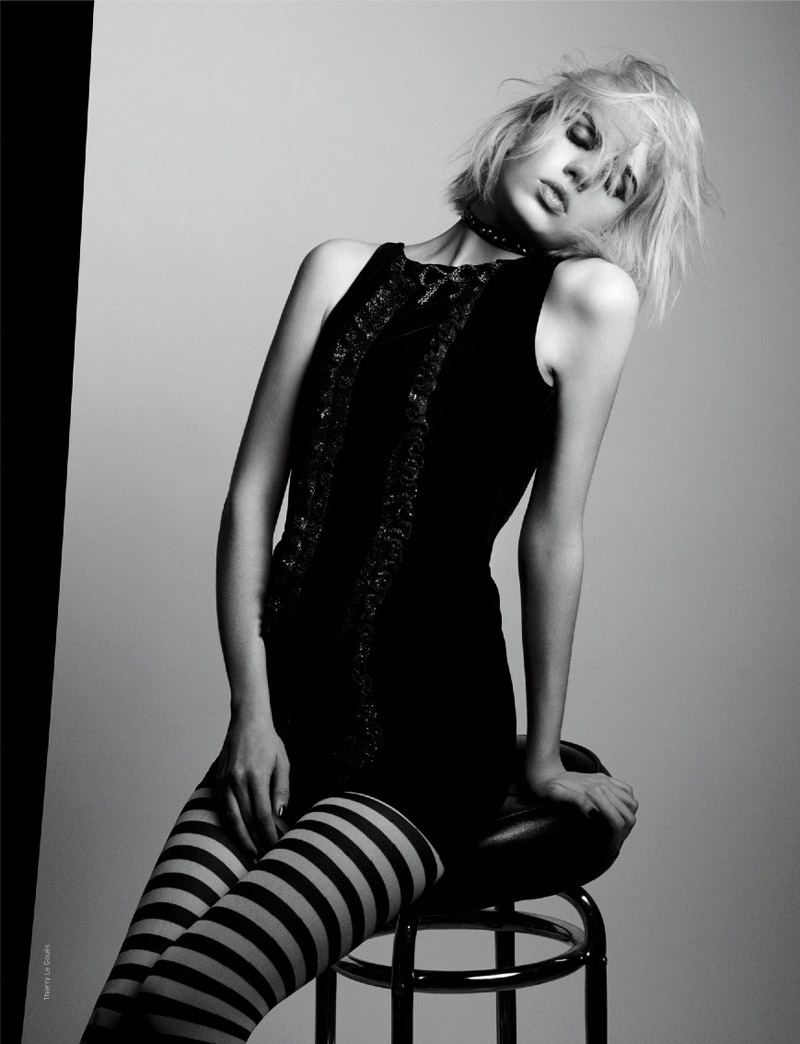 She's Bad: Julia Cumming in Saint Laurent for French Revue de Modes