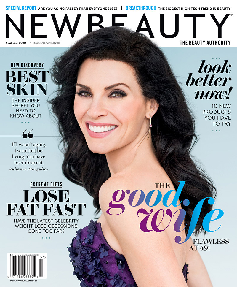 'The Good Wife' star Julianna Margulies gets her closeup for the fall 2015 cover story of NewBeauty Magazine. The actress was photographed by Andrew Macpherson for the new issue, out on newsstands now.