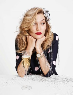 Karlie Kloss is Holiday Glam for Kate Spade