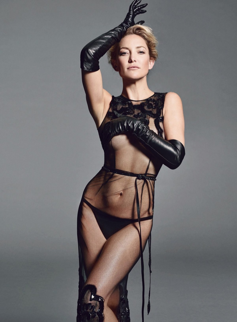 Kate Hudson looks hot in a sheer number for Allure