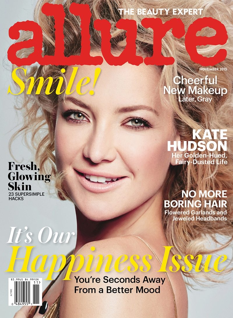 Kate Hudson on Allure Magazine November 2015 cover