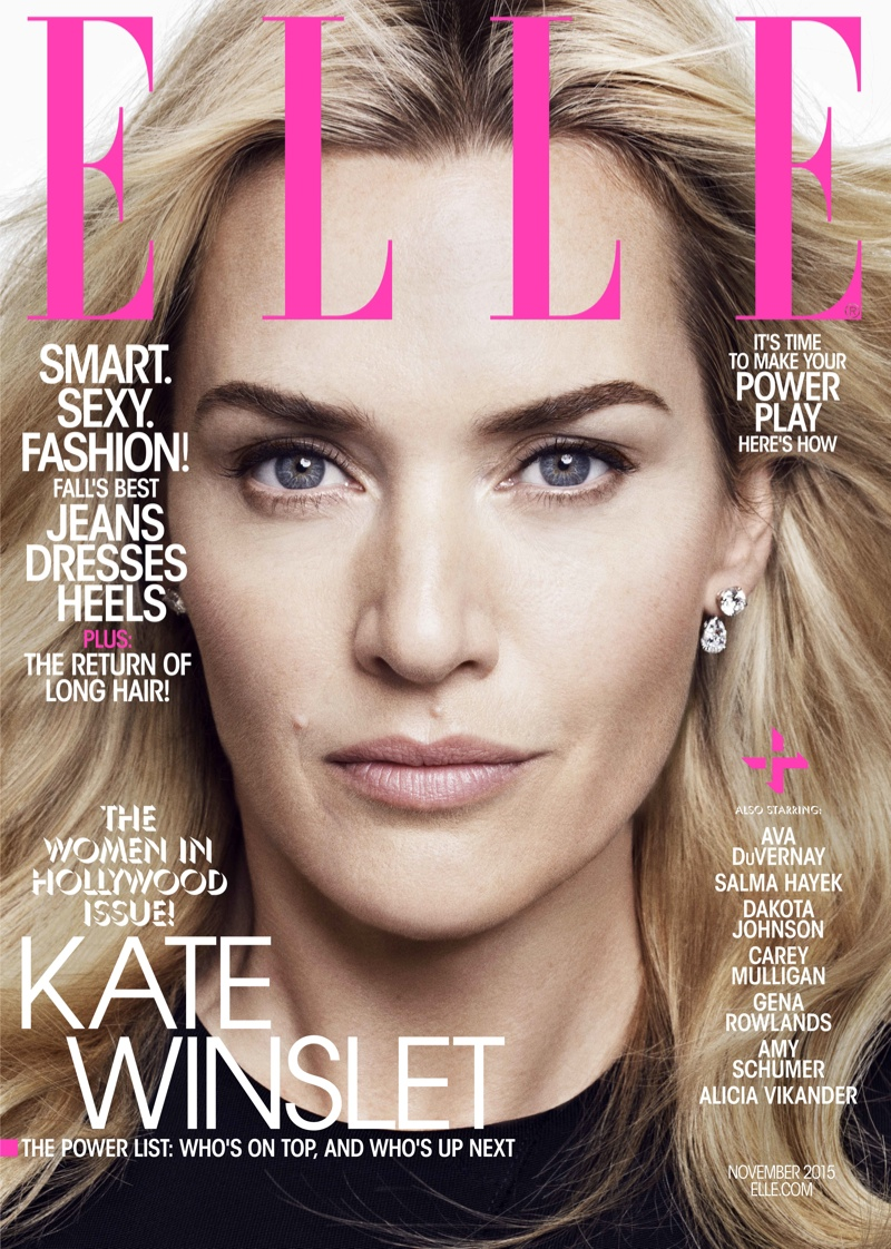 Kate Winslet Amy Schumer Dakota Johnson Cover Elle S