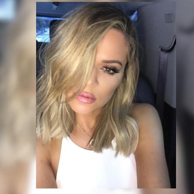 Khloe Kardashian Lob Hair