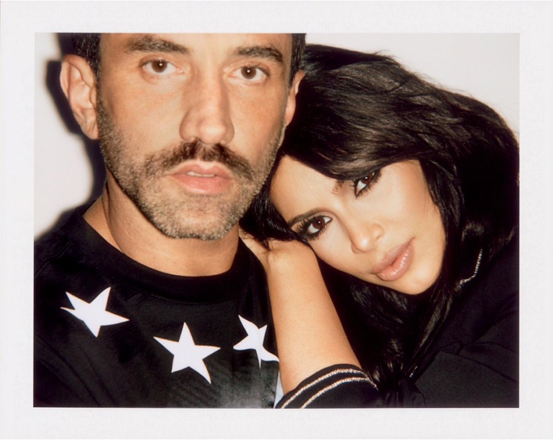 Riccardo Tisci and Kim Kardashian pose for Sorbet Magazine