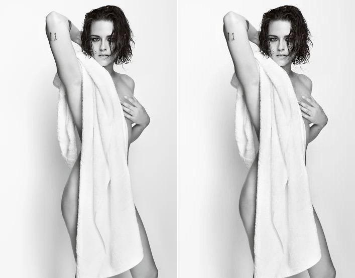 HOT: Kristen Stewart poses naked in Mario Testino's Towel Series