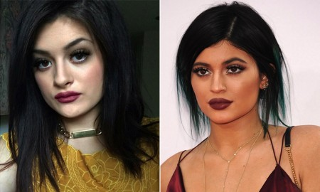 Kylie Jenner has an Instagram lookalike. Can you spot the difference? (L) Gabrielle (R) Kylie