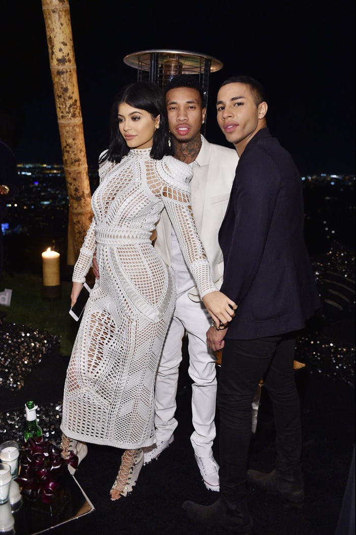 Kylie Jenner, Tyga and Olivier Rousteing