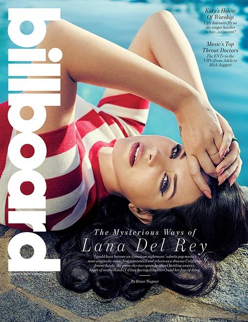 Lana Del Rey Goes Poolside - Billboard October 2015