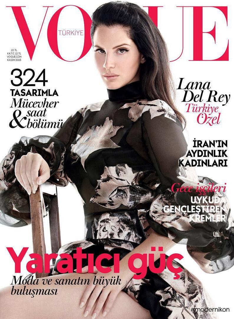 Lana Del Rey Wears McQueen Ruffles On Vogue Turkey`s November 2015 Cover
