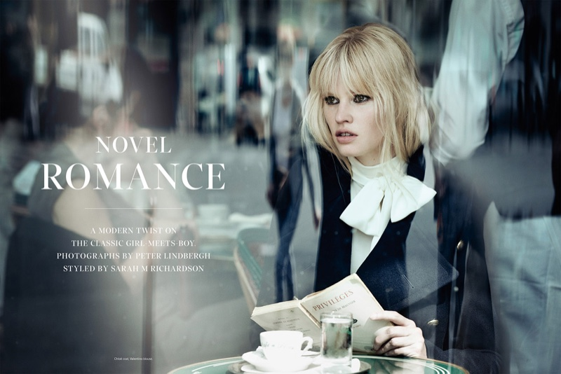 Novel Romance: Lara Stone + Freja Beha Erichsen By Peter Lindbergh For W Magazine November 2015