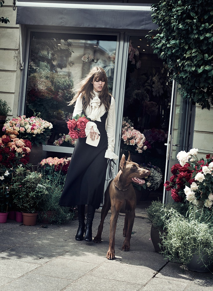 Freja Beha Erichsen stars in W Magazine's November issue