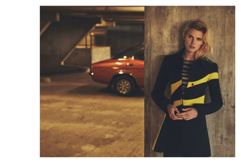 Lara Stone Goes for a Joy Ride in Russh Editorial