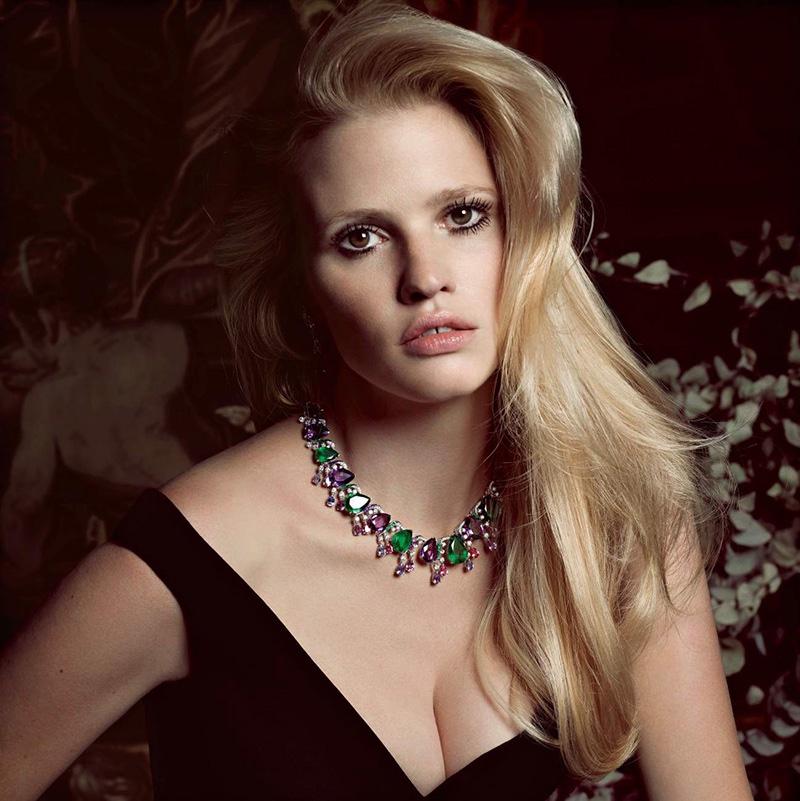 Lara Stone Stuns in Statement Necklaces for Vogue Paris ...