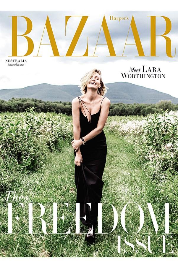 Lara Worthington Stars On Harper's Bazaar Australia November 2015