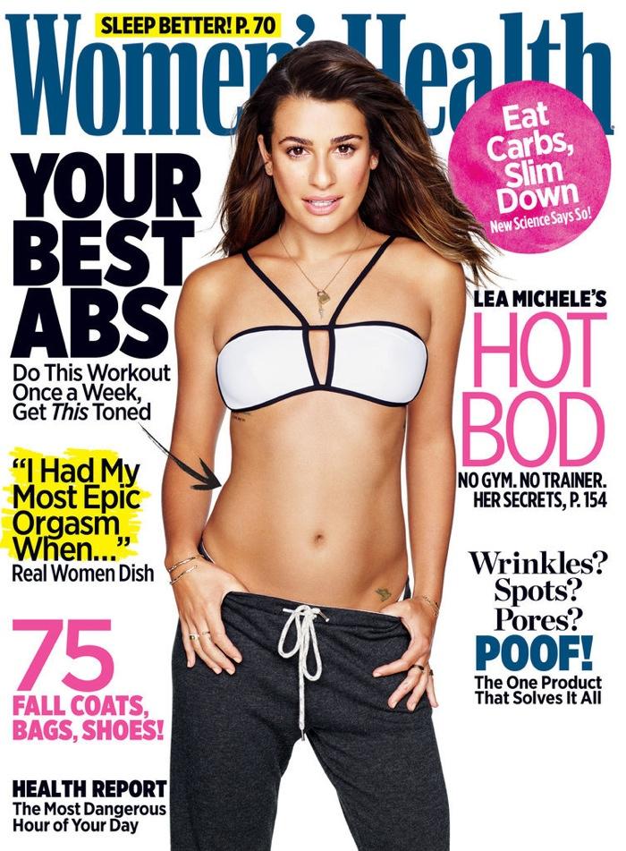 Lea Michele on Women's Health November 2015 cover