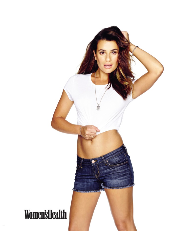 Lea Michele Poses for Women's Health & Talks Workout Routine