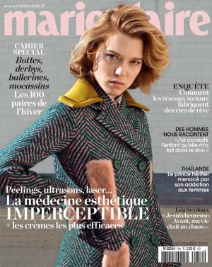 Lea Seydoux Poses in Prada on Marie Claire France Cover
