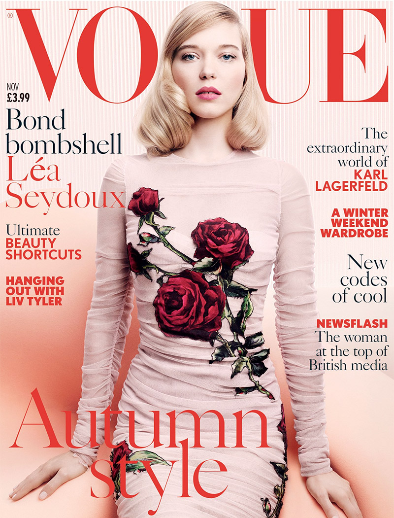 Lea Seydoux on Vogue UK November 2015 cover