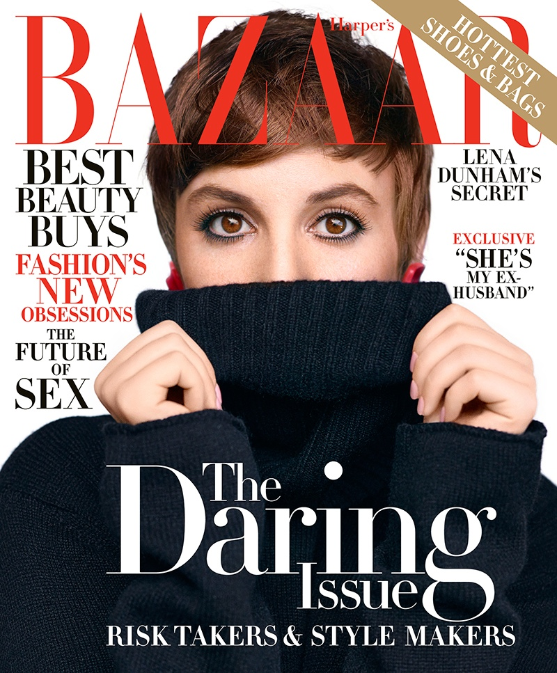 Lena Dunham on Harper's Bazaar November 2015 cover