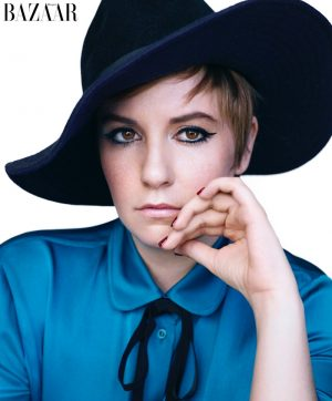 'Girls' Star Lena Dunham Poses for Harper's Bazaar November